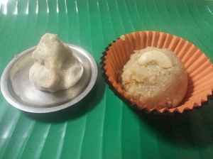 My first dish to celebrate the start of this blog...with my one and only home-made Ganesha.