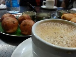 Mysore Coffee with Bonda - YUM!