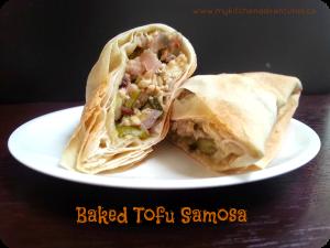 Baked tofu samosa PM1