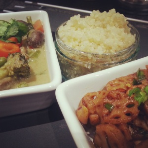 Thai Green Curry with Lotus Root Fry and Quinoa