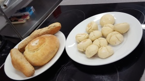 Some of the different breads made by various participants on the class.
